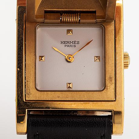 Hermes medor, armbandsur, 23 x 23 mm.
