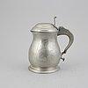 A pewter jug, mark of mårten hammarström, vasa 1795.