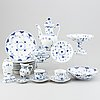Royal copenhagen, a 50-piece porcelain musselmalet service, denmark, second half of the 20th century.