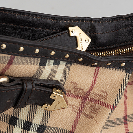 Burberry, a canvas and leather bag.