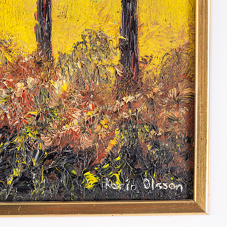 Karin olsson, oil on canvas, signed.