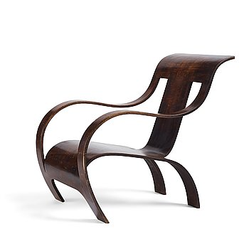 434. Gerald Summers, an easy chair, probably executed on license in Sweden for Makers of Simple Furniture, 1930-40's.