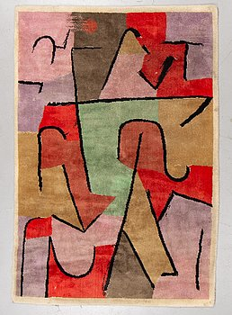 A carpet after Paul Klee, machine made with pile, ca 205 x 140 cm, Ege Art Line, Denmark second half of the 20th century.