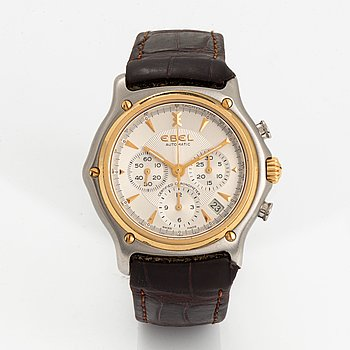 Ebel, 1911, wristwatch, chronograph, 40 mm.