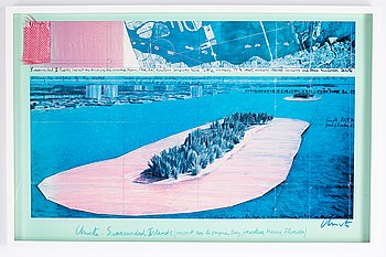 Christo & Jeanne-Claude, offset in colours with application, signed.