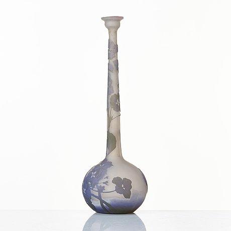 Emile gallé, an art nouveau cameo glass vase, nancy, france, early 1900's.