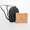 Louis vuitton, a epi leather 'mabillon' backpack.