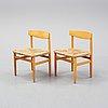 Nine öresund chairs by børge mogensen for karl andersson & söner.