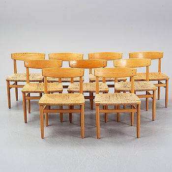 Nine Öresund chairs by Børge Mogensen for Karl Andersson & söner.