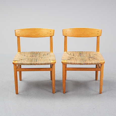 "Børge mogensen, stolar, 9 st, ""öresund"", karl andersson & söner, 1900-talets andra hälft."
