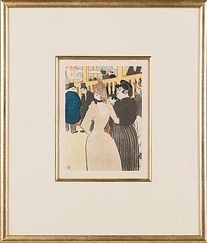 Henri de Toulouse-Lautrec, after, lithograph, signed in the print.