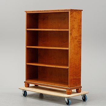 A birch bookcase, 1920's/30's.