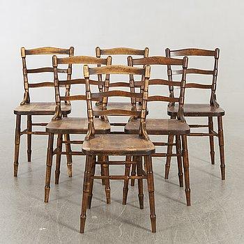 Chairs six chairs, Wood.