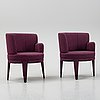 A pair of armchairs, 21st century.