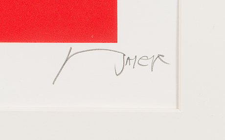 Jean baier, silkscreen, signed and numbered 137/200.