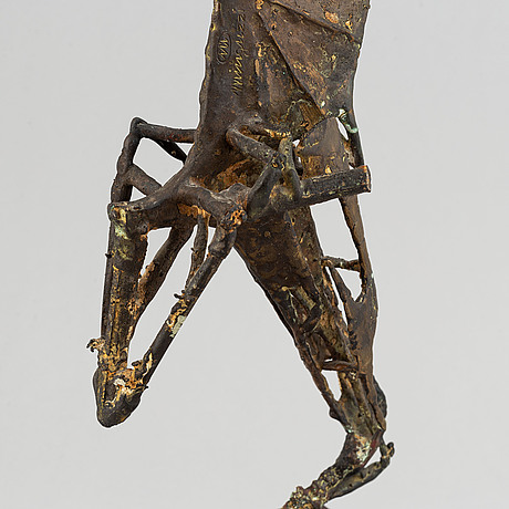 Luciano minguzzi, a bronze sculpture, signed.