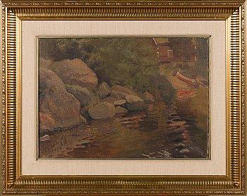 Vasili Levi, öljy kankaalle, signeerattu ja päivätty 1921.