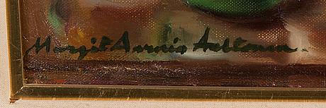Margit aarnio-aaltonen, oil on panel, signed.