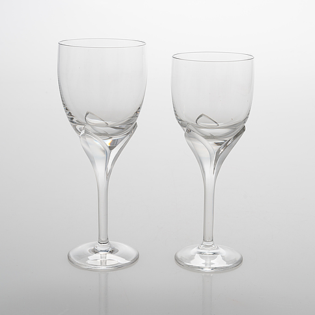A set of 20 vineglasses, 'iris', rosenthal studio-line.
