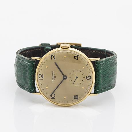 Wristwatch longines, gold on steel, 31 mm, manual.