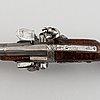 A mid 18th century wender flintlock pistol.
