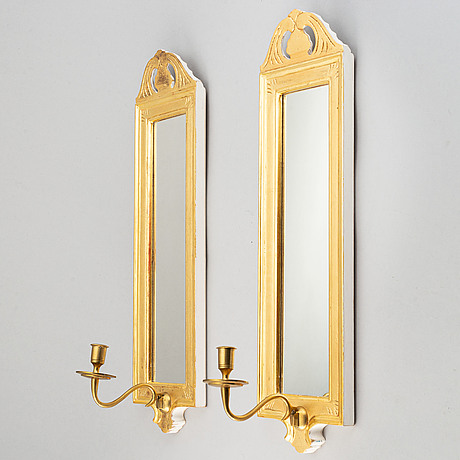 "A pair of swedish gustavian style wall sconses ""regnaholm"" made by ikea, 1990s."