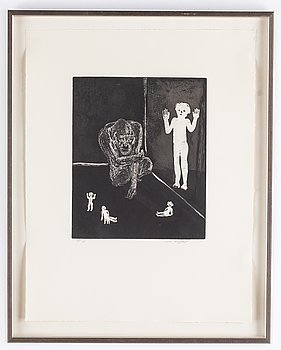 Lena Cronqvist, aquatint etching, signed 60/75.