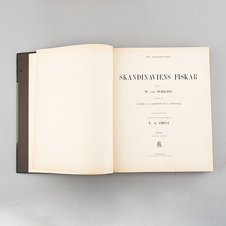 Wilhelm von wright, 'skandinaviens fiskar', three volumes, stockholm, p. a. norstedt & söners förlag, 1892-95.