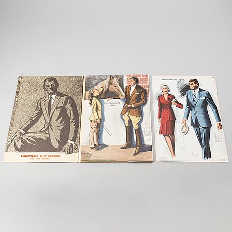 Modeplanscher, 6 mappar, 1968-1971.
