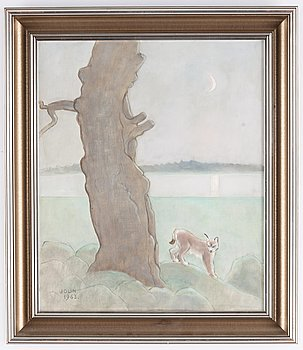 Einar Jolin, oil on canvas, signed and dated 1963.