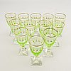 A set of 12 odelberg junior wineglasses, kosta first half of the 20th century.