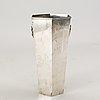 A swedish 20th century sivler vase mark of wiwen nilsson lund 1962.