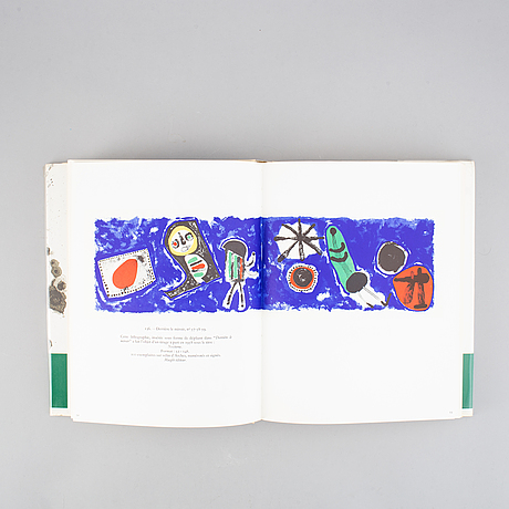 Three artbooks, marc chagall lithograph iii-iv and miro lithograph ii, published by andré sauret/maeght.