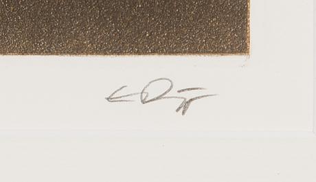 Esa riippa, etsaus ja akvatinta, signeerattu ja numeroitu iv/xxv.