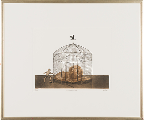 Esa riippa, etching and aquatint, signed and numbered iv/xxv.