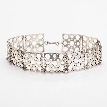 "Liisa Vitali, A sterling silver bracelet ""Pitsi"". Westerback, Helsinki."