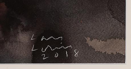 Lars lerin, watercolour, signed lars lerin and dated 2018.