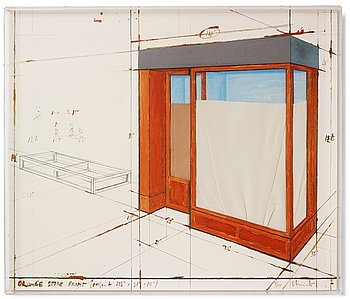 "429. Christo & Jeanne-Claude, ""Orange Store Front, project""."
