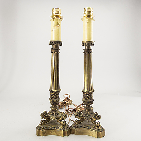 A pair of empire-style table lamps beginning of 20th century.