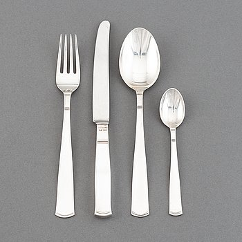 Jacob Ängman, a part silver cutlery, 'Rosenholm', GAB, (24 pieces).