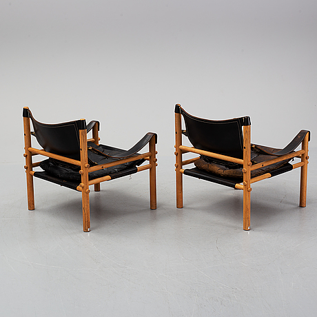 Arne norell, a pair of 'sirocco' easy chairs. designed in 1964.