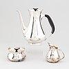 Three pieces silver coffe service,