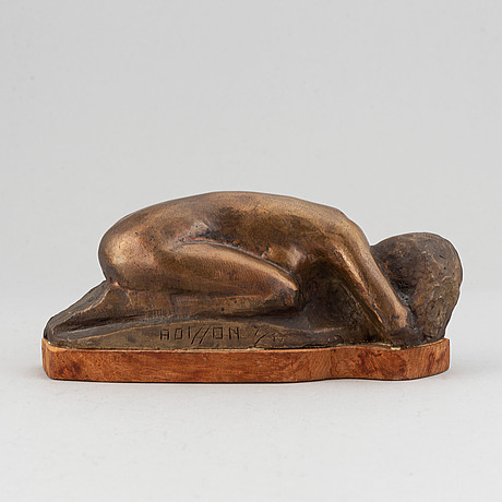 Axel olsson, a bronze skulpture, signed and numbered 7/10.