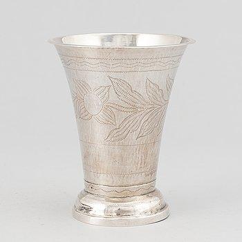 A swedish silver beaker, mark of Mikael Olof Barkman, Varberg 1829.