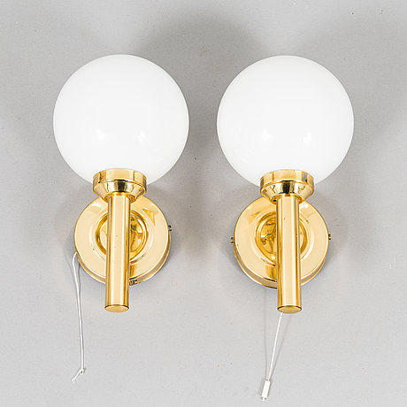 A pair of late 20th century wall lights.