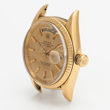 Rolex, oyster-perpetual, day-date, rannekello, 35 mm.