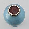 Berndt friberg, a stoneware vase from gustavsbergs studio, 1954.