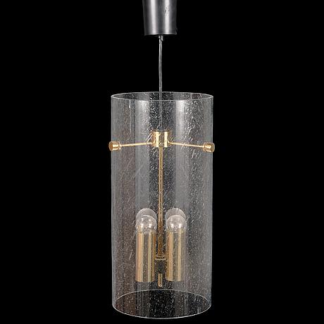 A late 20th century german '4885' pendant light for glashütte limburg.