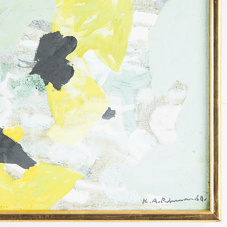 Karl axel pehrson, oil on canvas, signed and insignificant dated -68 (?).