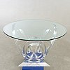 A mikhail loznikov signed glass and plexi dining table later part of the 20th century.